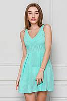Женское платье до колен мятное