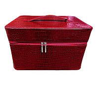 Сумка-чемодан для мастеров маникюра и педикюра.Цвет – бордовый крокодил.Размеры – 38х28х25