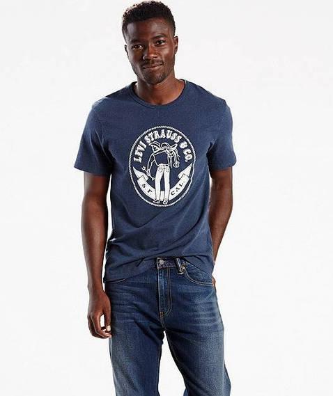 Мужская футболка Levis Graphic Tee - Navy (ХL)
