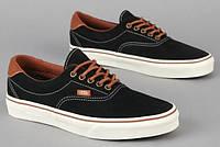 """Кеды мужские Vans Era 59 Black """"Черные с коричневым"""" р. 7-11 (40-45), фото 1"""