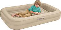 Велюр кровать 66810 с бортиками размером 107 х 168 х 25 см с ручным насосом