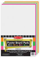 Цветная бумага для рисования Melissa & Doug  Piece Poster Board Pack, 28х36 см (MD4173)