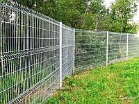 Ограждение / Забор секционный 2 м х 2,5 м из сварной сетки оцинкованной. Стандарт