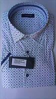 Мужская рубашка спорт DERGI с коротким рукавом приталенная код 7023-1