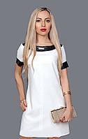 Платье молодежное из итальянской ткани с отделкой из кофзама, 44,46,50