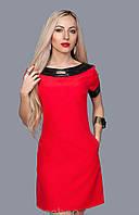 Платье молодежное из итальянской ткани с отделкой из кофзама, 44,46,48,50
