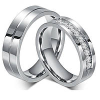 Парные обручальные титановые кольца Хранители Сердец S.S.