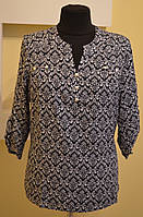 Женская черная блузка из штапеля