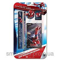 Набор канцелярский блокнот+4 канцелярских предмета Spider Man (SM14-147K)