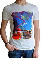 Мужская футболка с рисунком №1 белая