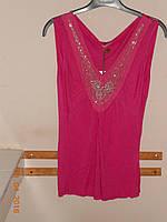 Блузка цвета фуксии, украшенная сеточкой и бисером  Sexy women, фото 1