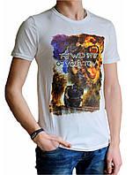 Мужская футболка с рисунком №2 белая