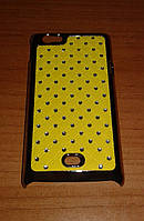 Чехол для Sony Xperia Miro ST23i жёлтый на заднюю крышку