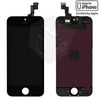Дисплейный модуль (дисплей + сенсор) для iPhone 5S / SE, черный, оригинал