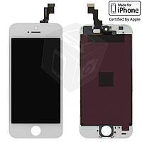 Дисплейный модуль (дисплей + сенсор) для iPhone 5S / SE, белый, оригинал
