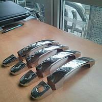 Накладки на ручки на Фольцваген Т-5,2010 (нерж.) 4-штуки.