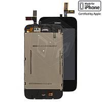 Дисплейный модуль (дисплей + сенсор) для iPhone 3G, черный, оригинал