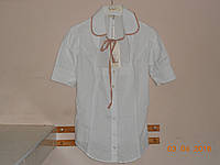 Блузка белая  с вырезом и завязкой Sexy Women, фото 1