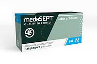 Одноразовые перчатки MedaSEPT Латексные опудренные Latex Premium