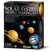 """Набор """"Детская лаборатория. Мобиль солнечной системы (светится в темноте)"""" ТМ """"4М"""""""