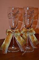 Нежные свадебные бокалы Ангелина