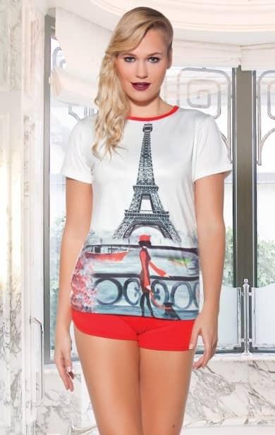купить женкий Комплект футболка с шортами