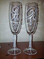Нежные свадебные  бокалы Висла