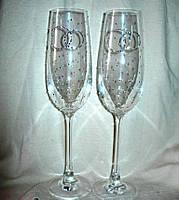Оригинальные свадебные бокалы Кольца