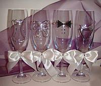 Изумительные бокалы Жених и невеста 6