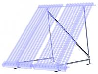 Платформа для установки вакуумных гелиоколлекторов Hewalex на плоской поверхности