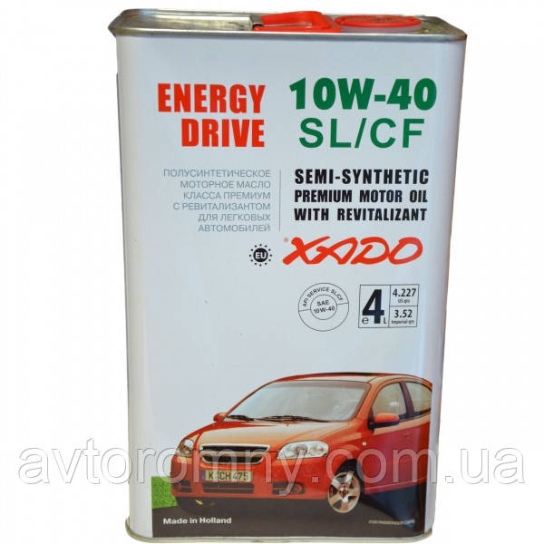 Масло моторное XADO Atomic Oil 10W40 SL CF 4л 16727p