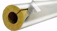 Базальтовая скорлупа (цилиндр)  80 кг/м3, фольгир.,толщина  40 мм,  диаметр 76 мм, фото 1