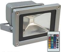 Прожектор светодиодный LL-181 1LED 20W RGB (+пульт) 230V (115*87*103mm) Серебро IP44