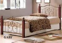 Кровать из натурального дерева с ковкой Малайзия Gabi N