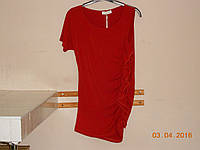 Красная блуза с одним рукавом, фото 1