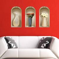 Декоративные наклейки на стену с 3Dэффектом.
