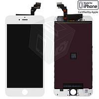 Дисплей + сенсор (touchscreen) для iPhone 6 Plus, с рамкой, белый, оригинал