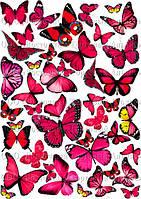 Печать съедобного фото - Формат А4 - Вафельная бумага - Бабочки №6
