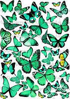 Печать съедобного фото - Формат А4 - Вафельная бумага - Бабочки №7