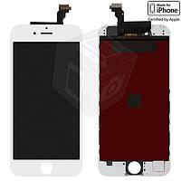 Дисплейный модуль (дисплей + сенсор) для iPhone 6, с рамкой, белый, оригинал