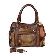Женская сумочка кожаная из кусочков Tongle 07078