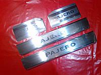 Накладки на пороги Mitsubishi Pajero Wagon 4