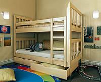 Ліжко двоярусне з натурального дерева Заріна