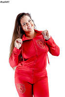 Спортивный костюм для пышных форм.Цвет красный, фото 1