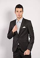 Пиджак мужской приталенный 70F003 стильный черно-серый (пиджаки молодежные)