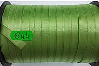 Лента атласная двухсторонняя 10мм, цвет светло зеленый, Турция