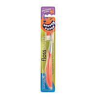 Зубная щетка Brush-Baby Flossbrush от 6 лет