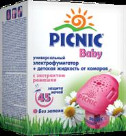 Пикник Baby Электрофумигатор + жидкость от комаров ( 45 ночей ), 30 мл
