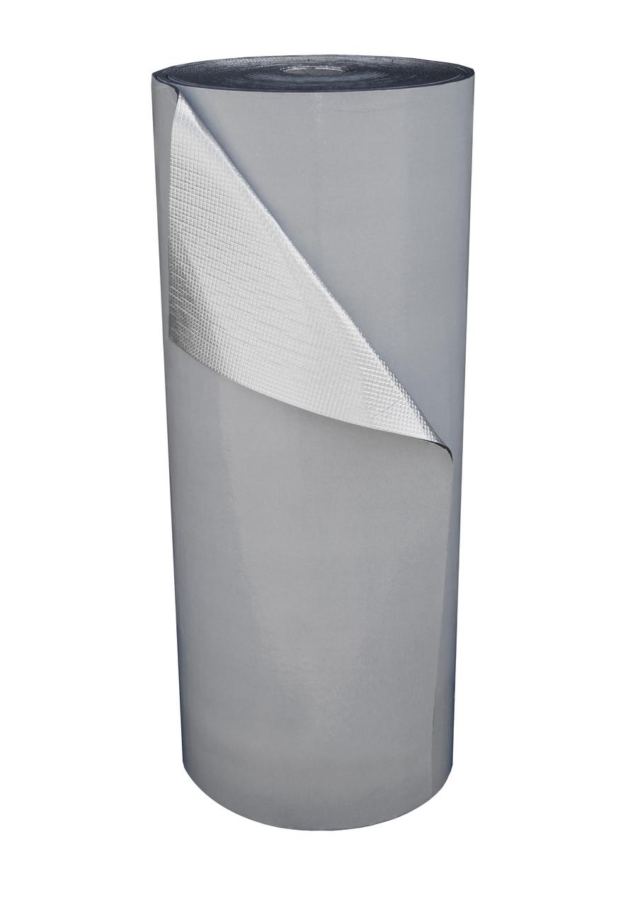 Пенополиэтилен Polifoam 4 мм  ламин. метал. пленкой BOPP самоклеющийся (3004/BOPP с клейким слоем рул. 25