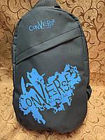 Рюкзак Converse (Конверс), серый с голубым ( код: IBR020SL ), фото 1